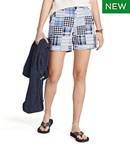 "Women's Lakewashed Chino Shorts, 6"" Patchwork"
