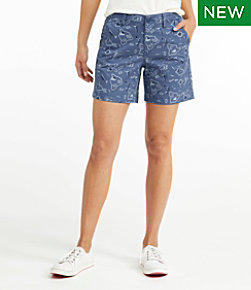 "Women's Lakewashed Chino Shorts, 6"" Print"