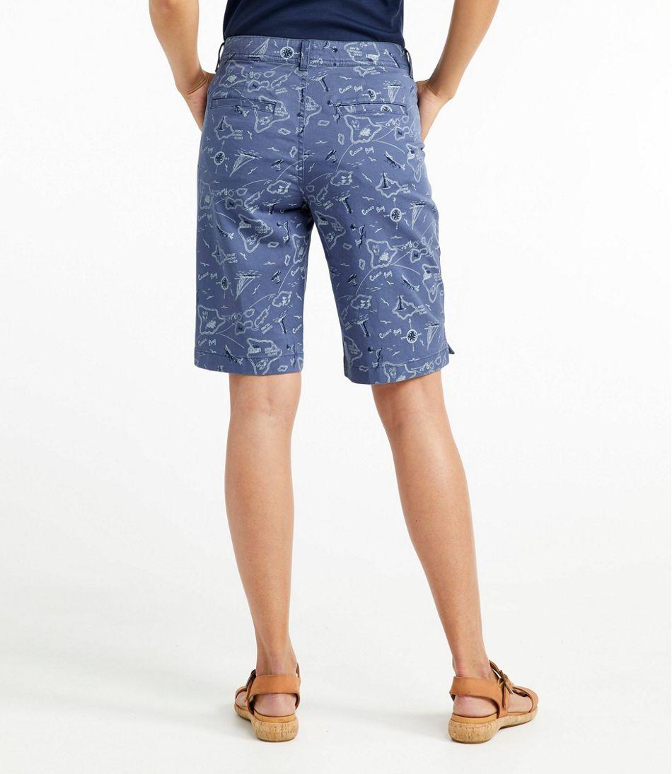 Women's Lakewashed Chino Shorts, Bermuda Print