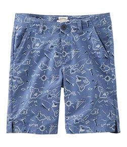 Women's Lakewashed Chino Shorts, Bermuda Print