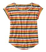 Women's Signature Slub Knit Tee, Scoopneck Pattern