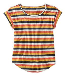 Women's Signature Slub Knit Tee, Scoopneck Pattern