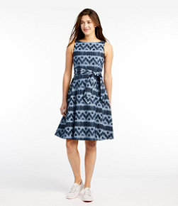 Women's Signature Chambray Dress Ikat Print