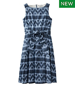 Women's Signature Chambray Dress Ikat Print Misses Regular