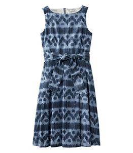Women's Signature Chambray Dress Ikat Print