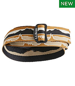 Adults' L.L.Bean Camp Belt, Jacquard Print