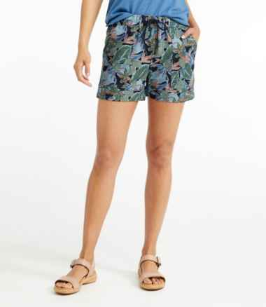 Women's Signature Linen/Cotton Pull On Shorts, Print