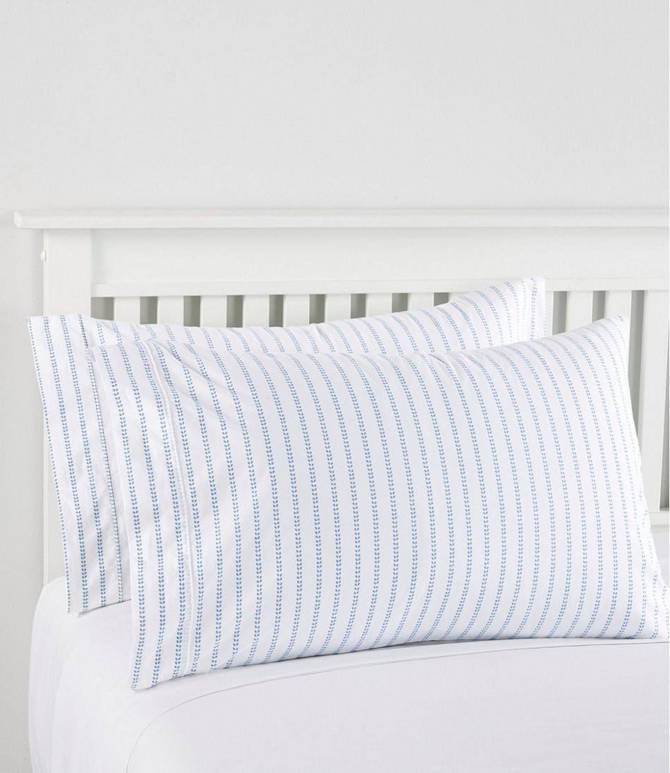 Sunwashed Percale Sheet Collection, Stripe Leaf