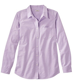 Women's Lakewashed Organic Cotton Oxford Shirt, Relaxed