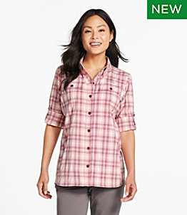 Women's No Fly Zone Long-Sleeve Shirt, Plaid