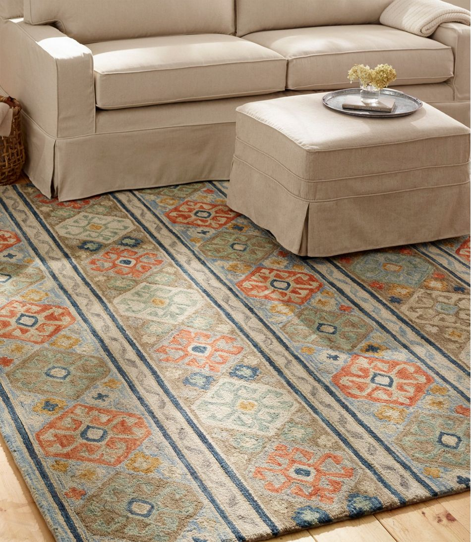Medallion Wool Tufted Rug, Multi