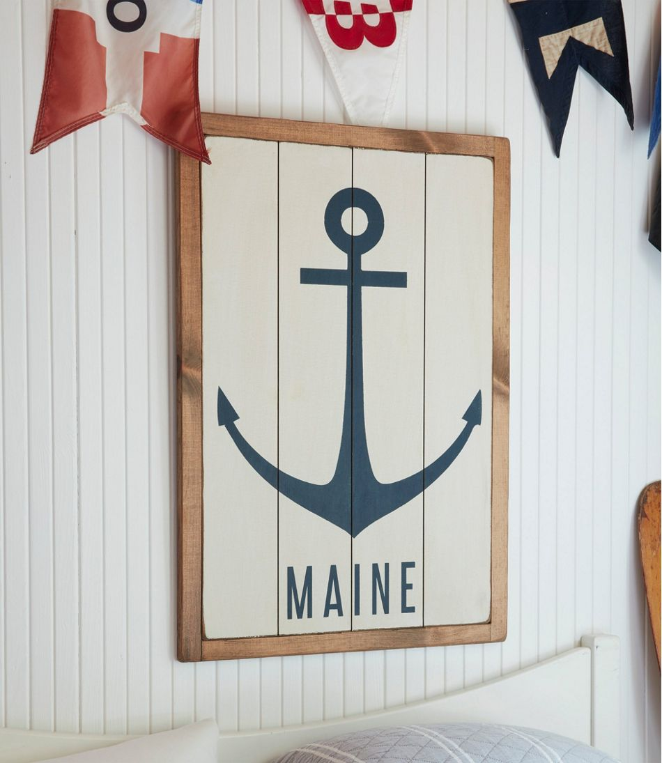 Wooden Anchor Sign, Personalized