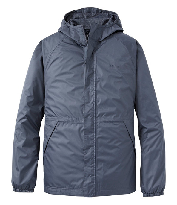 Waterproof Windbreaker Jacket, Gunmetal Gray, large image number 0