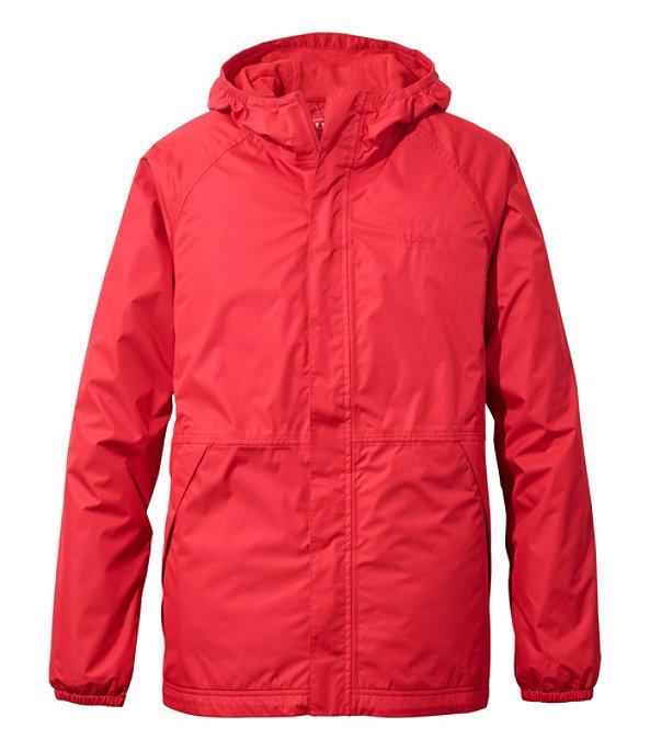 Waterproof Windbreaker Jacket, Dark Red, large image number 0