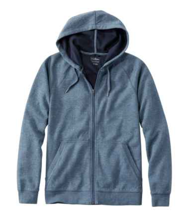 Men's Washed Cotton Double-Knit Shirts, Zip Hoodie