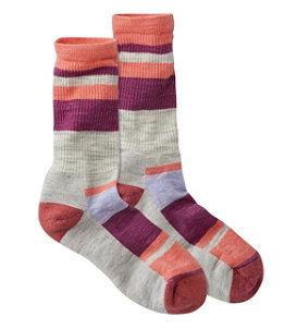 Women's SmartWool Stripe Hiking Socks, Light Crew