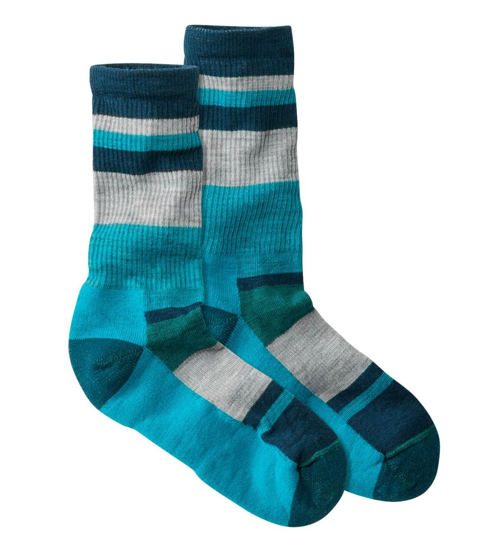 Women's SmartWool Stripe Hiking Socks, Light Crew