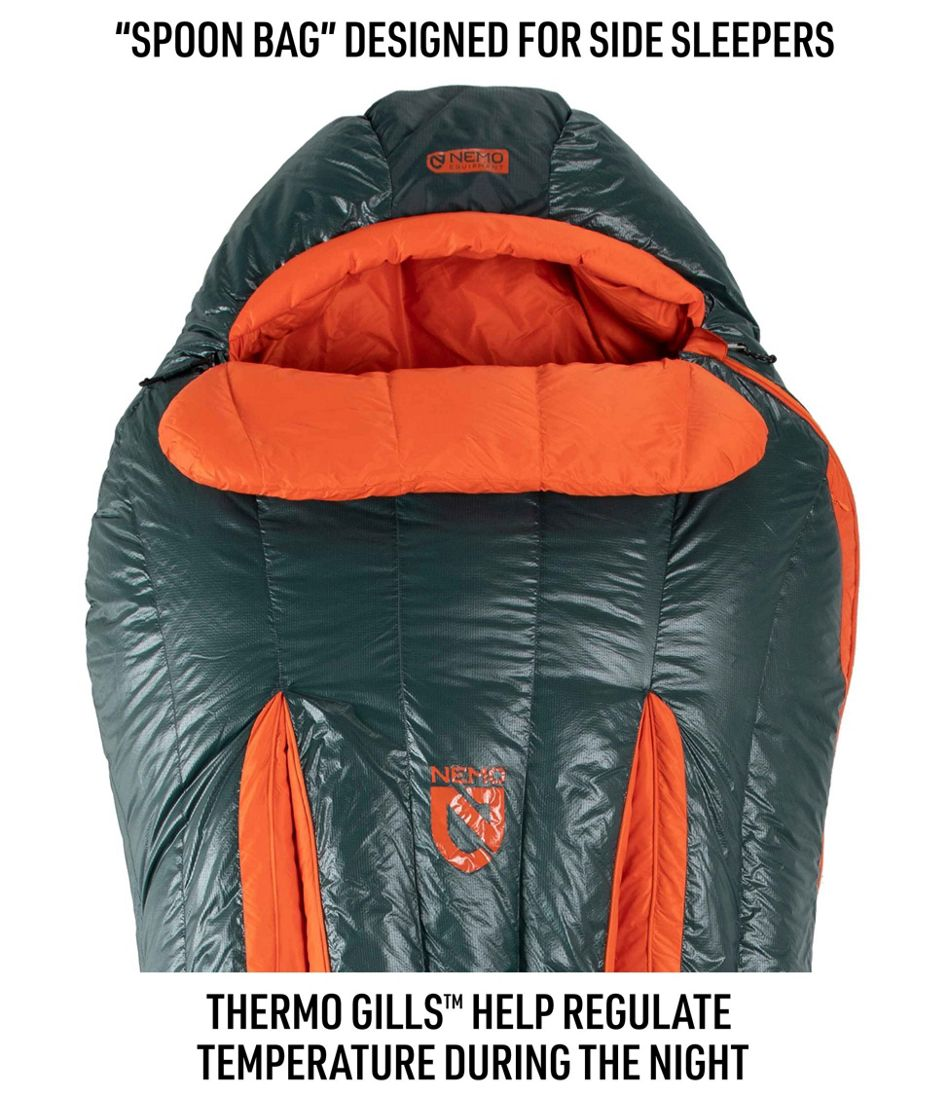 Men's Nemo Riff Down Sleeping Bag, Mummy 15°