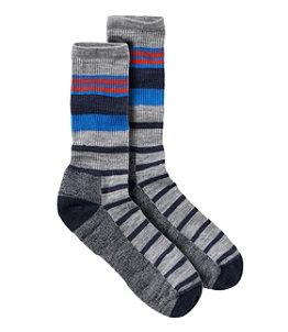 Men's SmartWool Striped Hike Light Crew Socks
