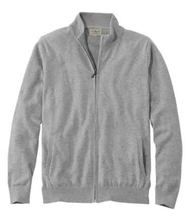 Men's Cotton/Cashmere Sweater, Full Zip