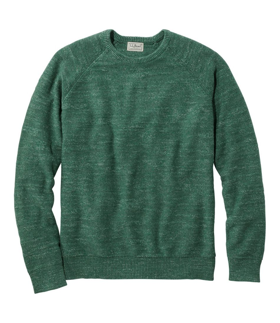 Men's Textured Organic Cotton Sweater, Crewneck