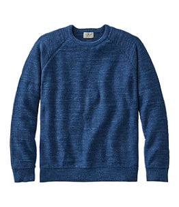 Men's Textured Organic Cotton Sweater, Crewneck