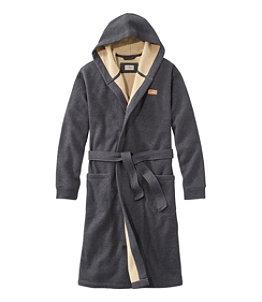 Men's Bonded Waffle Fleece Robe, Hooded