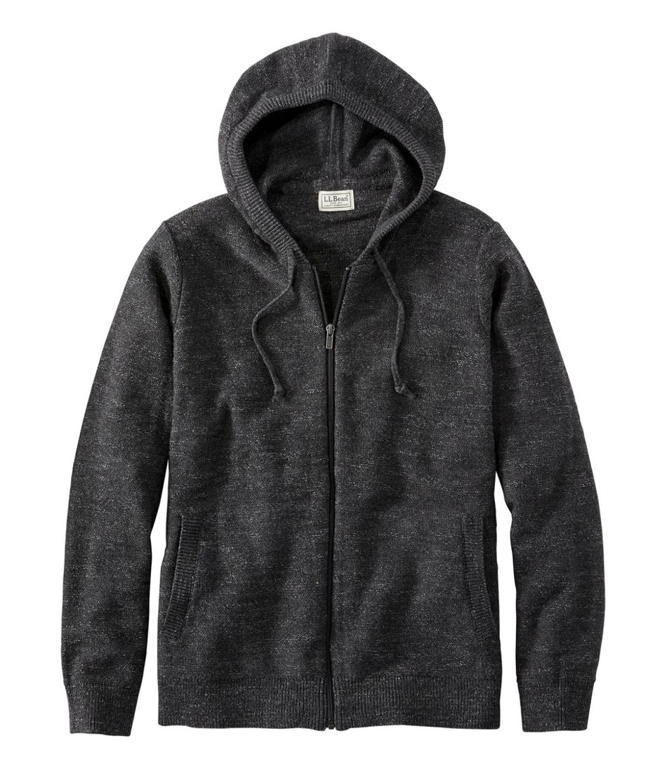 Men's Textured Organic Cotton Sweater, Hooded