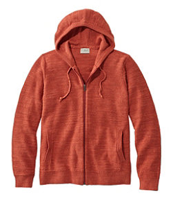 Men's Textured Organic Cotton Sweater, Hooded