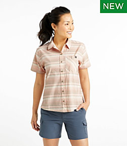 Women's Beach Cruiser Summer Shirt, Short-Sleeve, Stripe