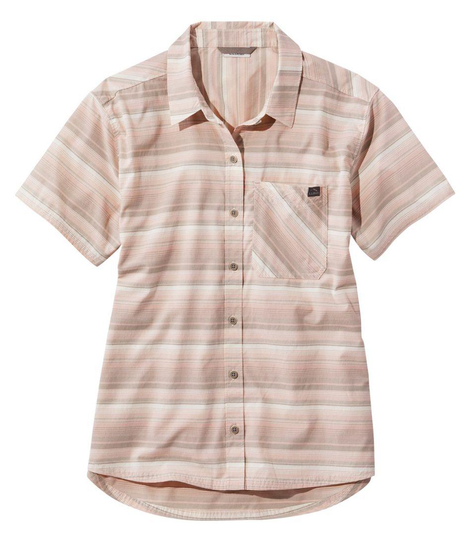 Women's Beach Cruiser Summer Shirt, Short-Sleeve, Stripe