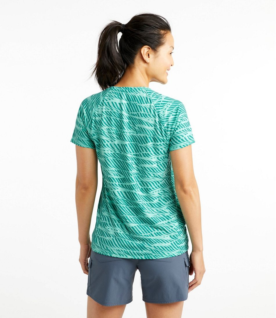 Women's Trail Tee, Short-Sleeve Crewneck Print