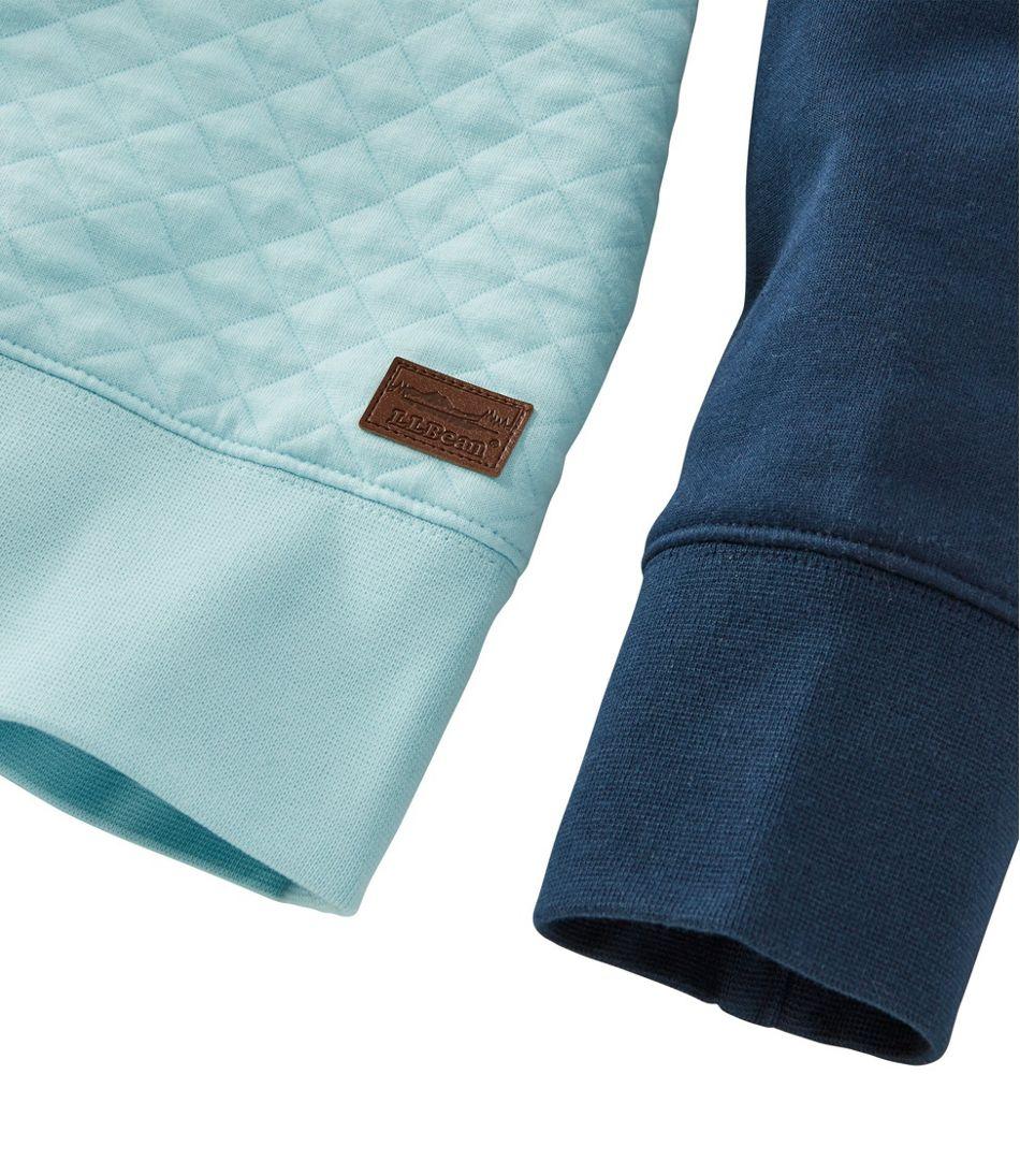 Women's Quilted Sweatshirt, Crewneck Colorblock