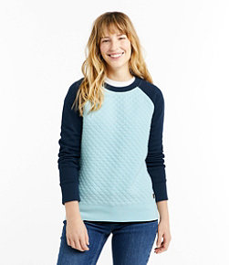 Women's Quilted Sweatshirt, Crewneck Colorblock