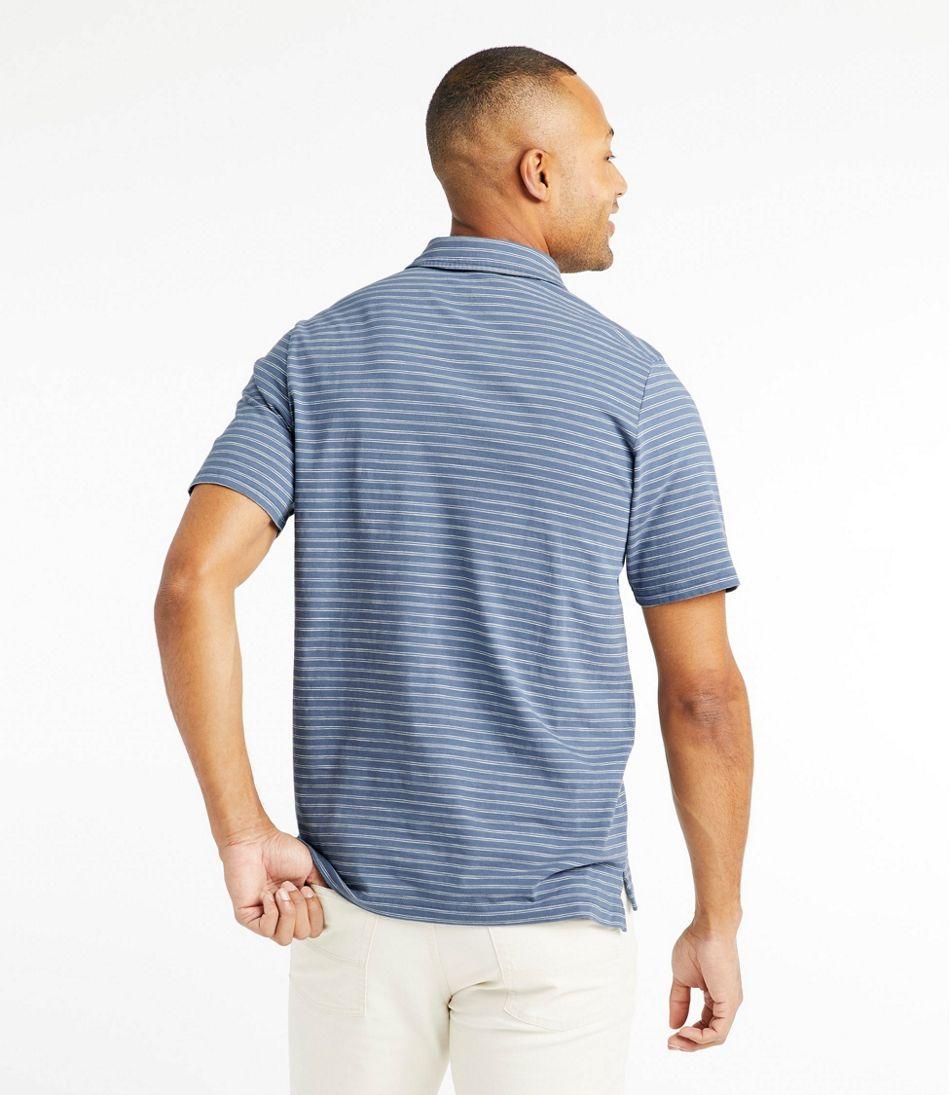 Men's Lakewashed Organic Cotton Polo, Short-Sleeve Stripe