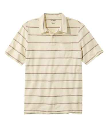 Men's Lakewashed Organic Cotton Polo, Short-Sleeve Stripe
