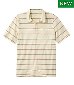 Men's Lakewashed Organic Cotton Polo, Short-Sleeve Stripe Regular