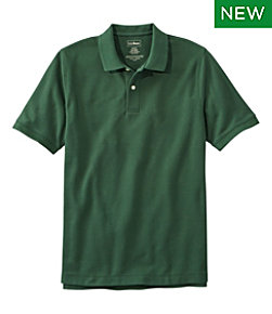 Men's Premium Double L Polo, Short-Sleeve Without Pocket, Slim Fit