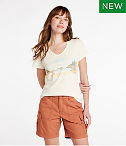 Women's Organic Cotton Tee, V-Neck Short-Sleeve Graphic