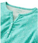 Women's L.L.Bean Tee, Short-Sleeve Splitneck Henley Print