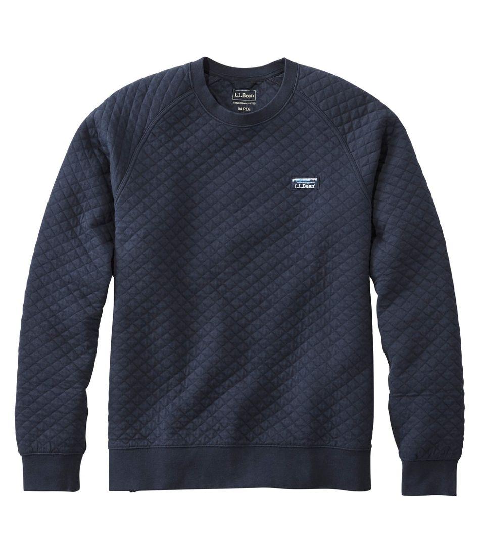 Men's Quilted Sweatshirt, Crewneck