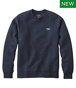 Men's Quilted Sweatshirt, Crewneck