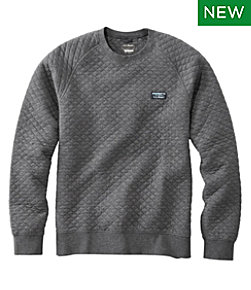 Men's Quilted Sweatshirts, Crewneck