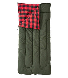 Adults' L.L.Bean Flannel Lined Camp Sleeping Bag, 20°