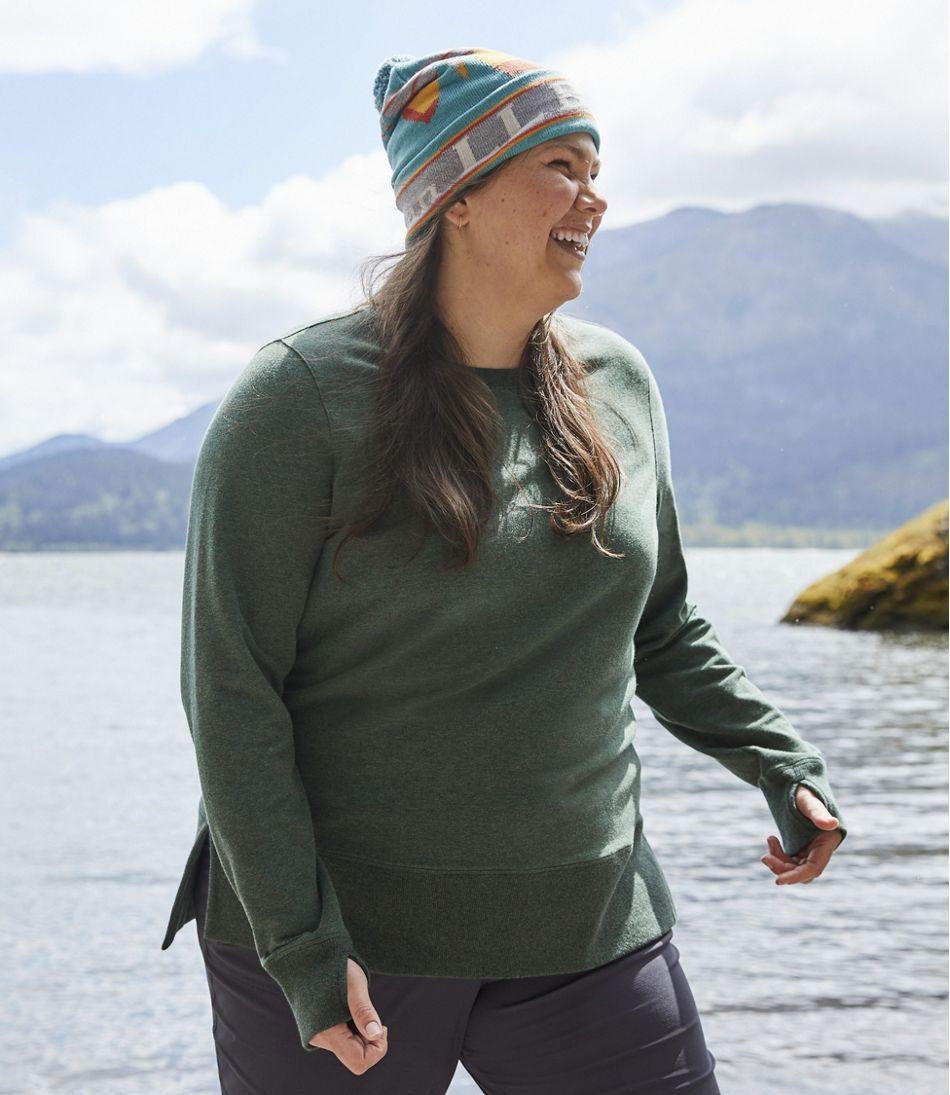 Women's L.L.Bean Cozy Sweatshirt, Split-Hem
