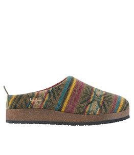 Women's L.L.Bean Wool Slipper Clogs, Print