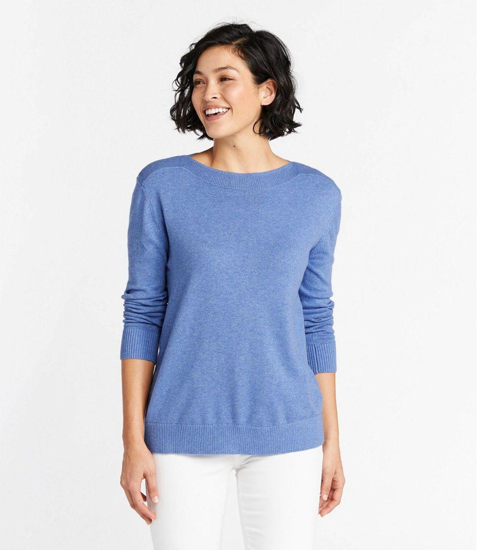 Women's Cotton/Cashmere Sweater, Boatneck