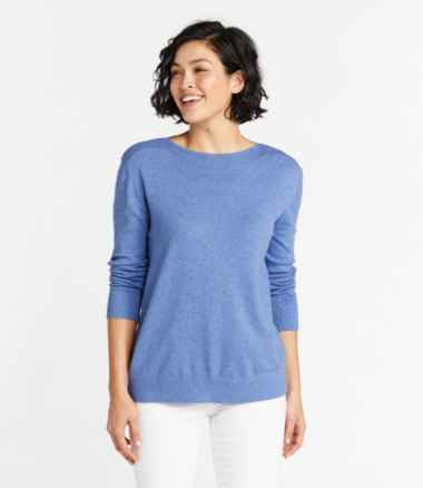 Women's Cotton/Cashmere Sweater, Boatneck