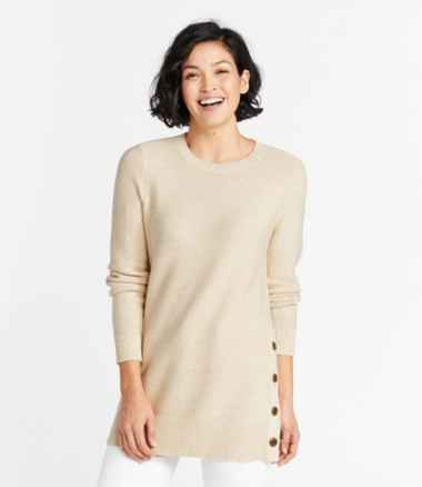 Women's Textured Cotton Sweater, Tunic