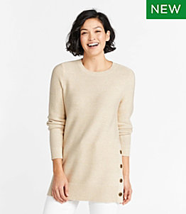 Women's Textured Cotton Sweater, Tunic